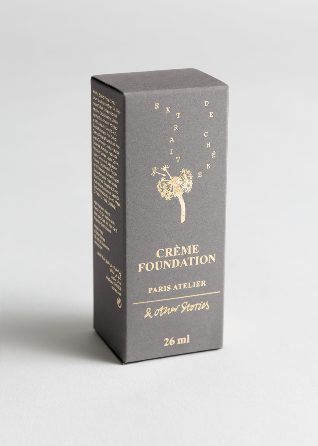 Back image of Stories crème foundation in brown