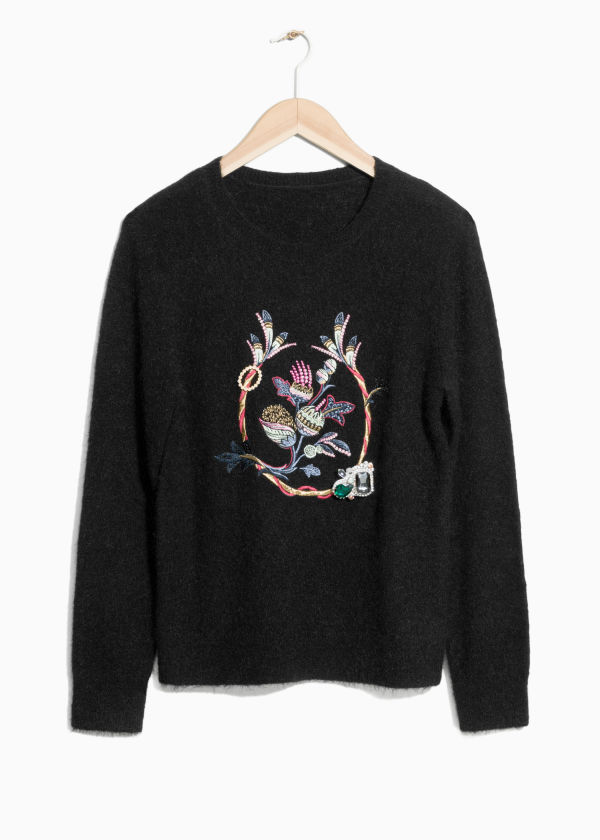 Embroidery Mohair Sweater