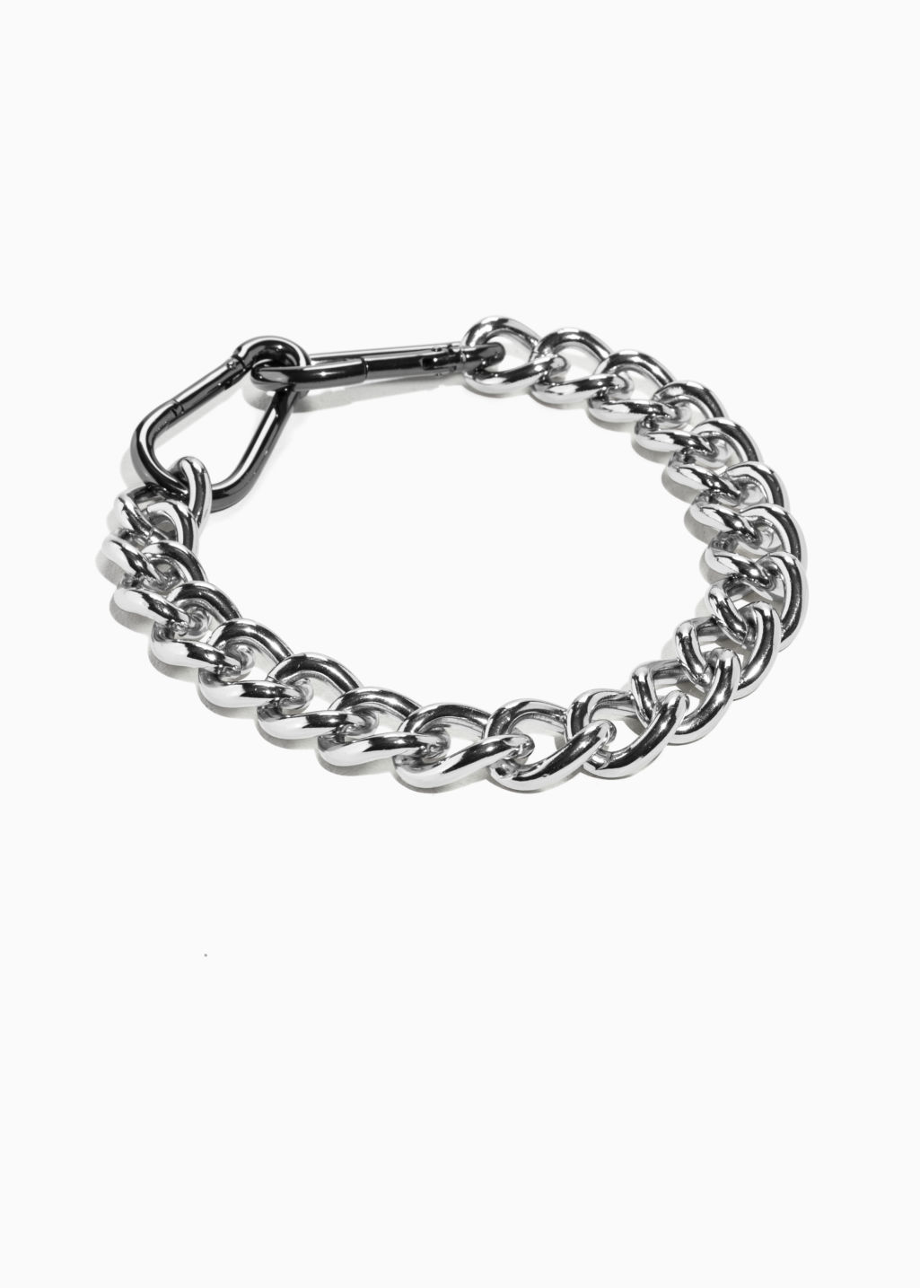 Front image of Stories chunky chain  in silver