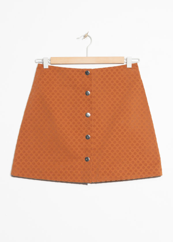 Mini Skirt With Button Closure