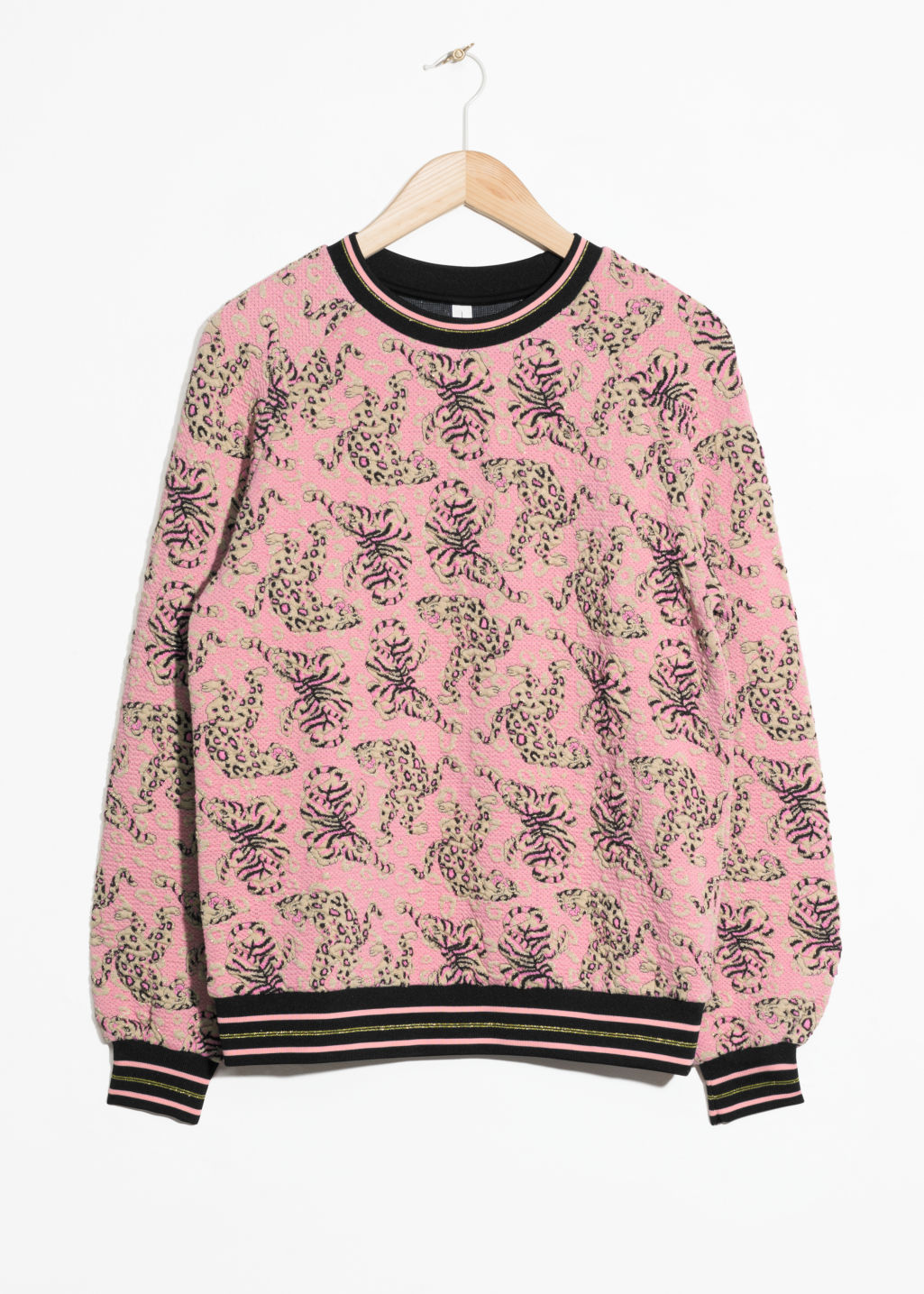 Front image of Stories vintage floral sweater in pink