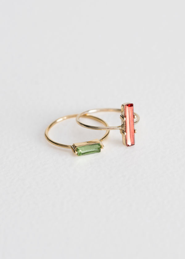 Two-Set Jewelled Rings