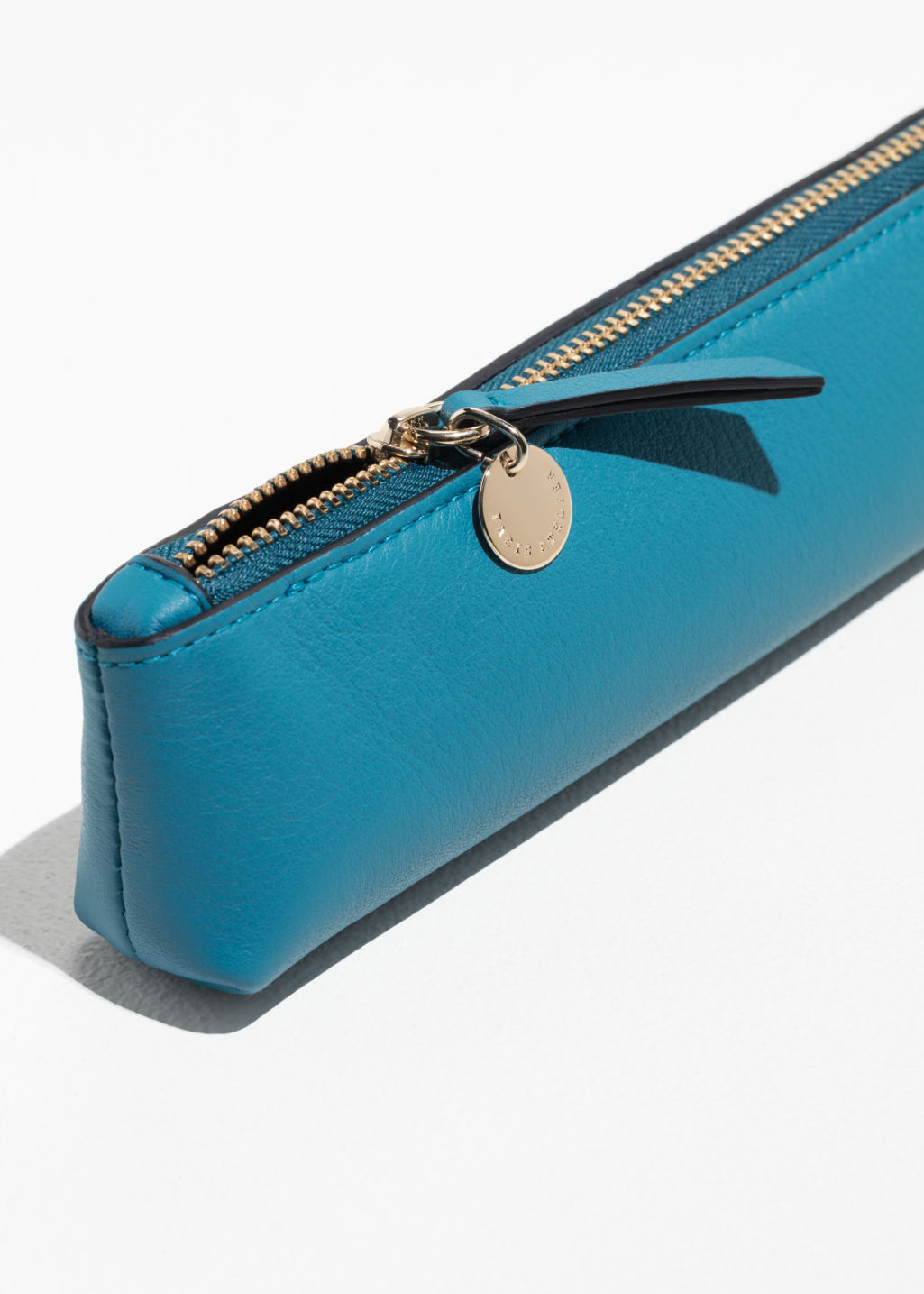 Back Image Of Stories P Paulette Pencil Case In Turquoise