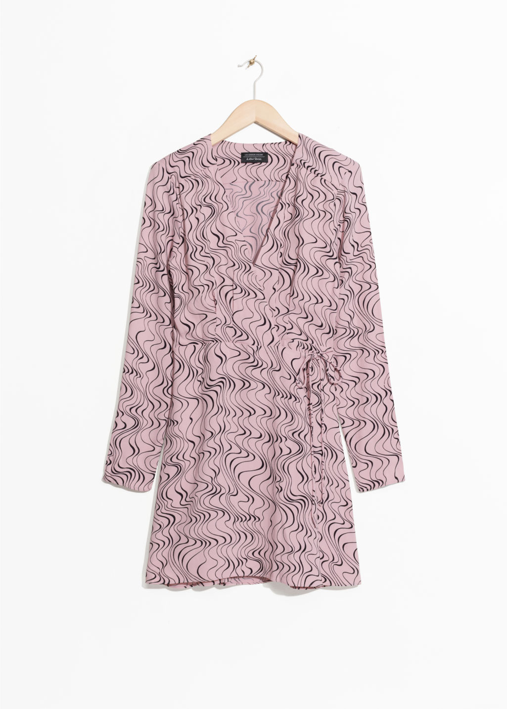 Front image of Stories flourish print dress in pink