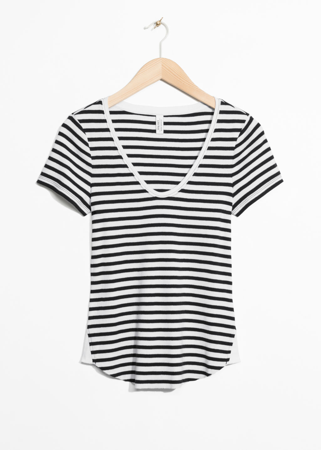 Front image of Stories v-neck top in white
