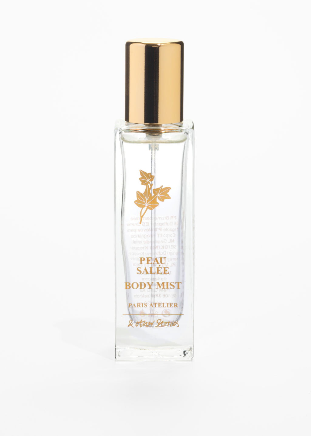 Front image of Stories peau salée body mist  in white