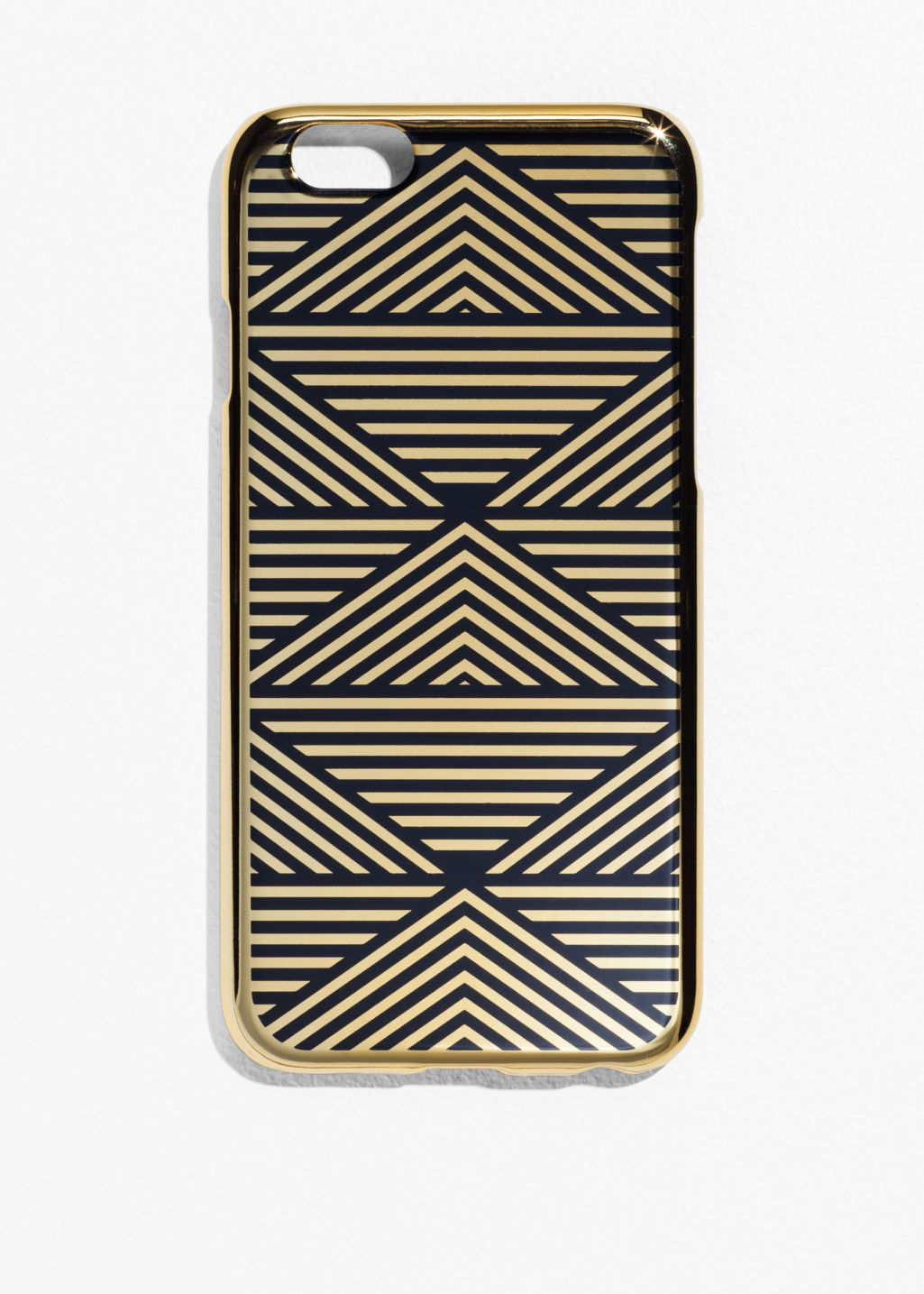 Front image of Stories pyramids iphone 6 case in gold