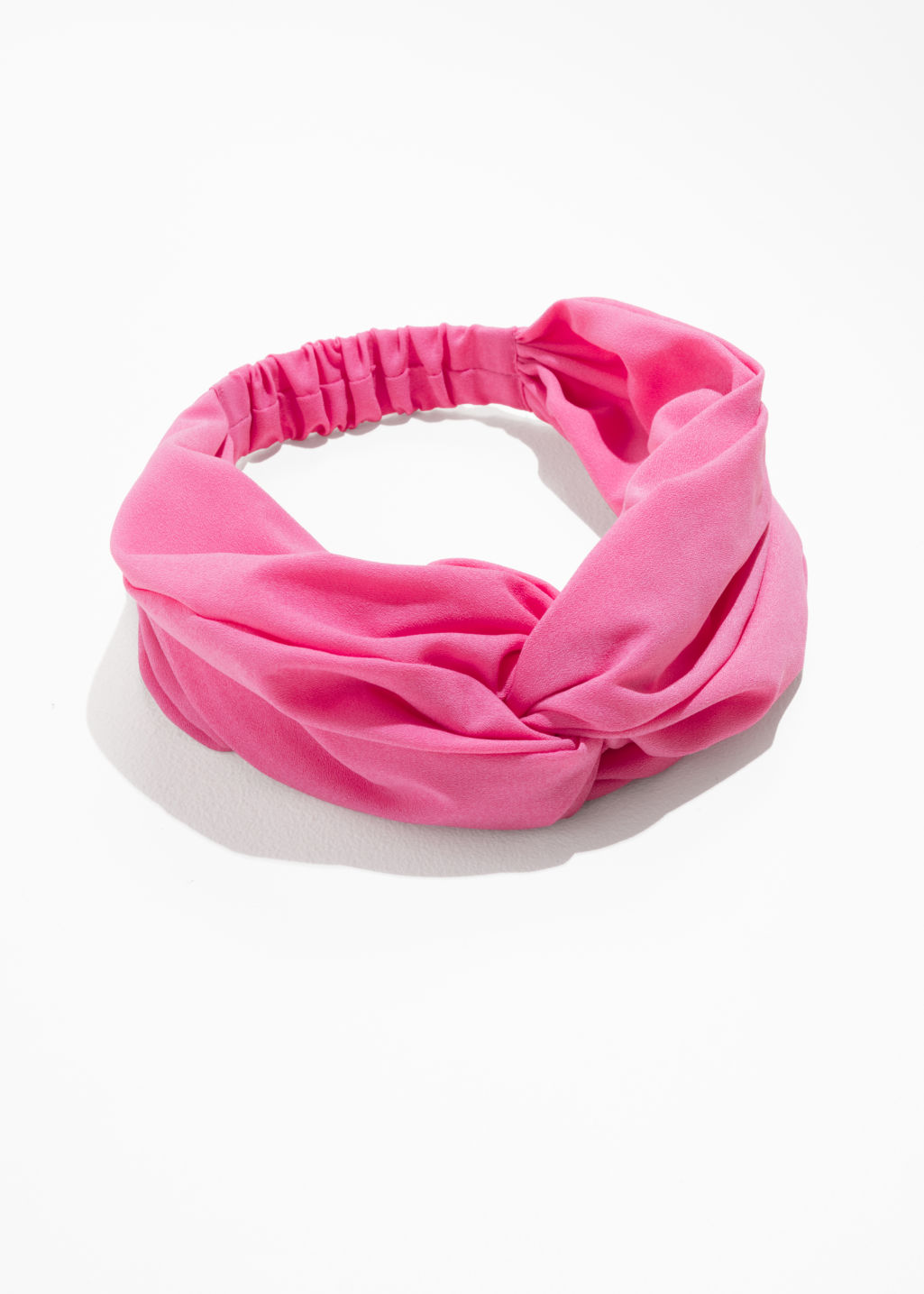 Front image of Stories voluminous headband in pink