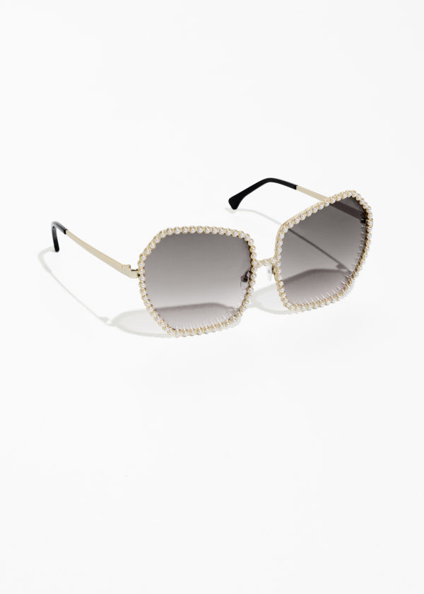 Jewelled Frame Sunglasses