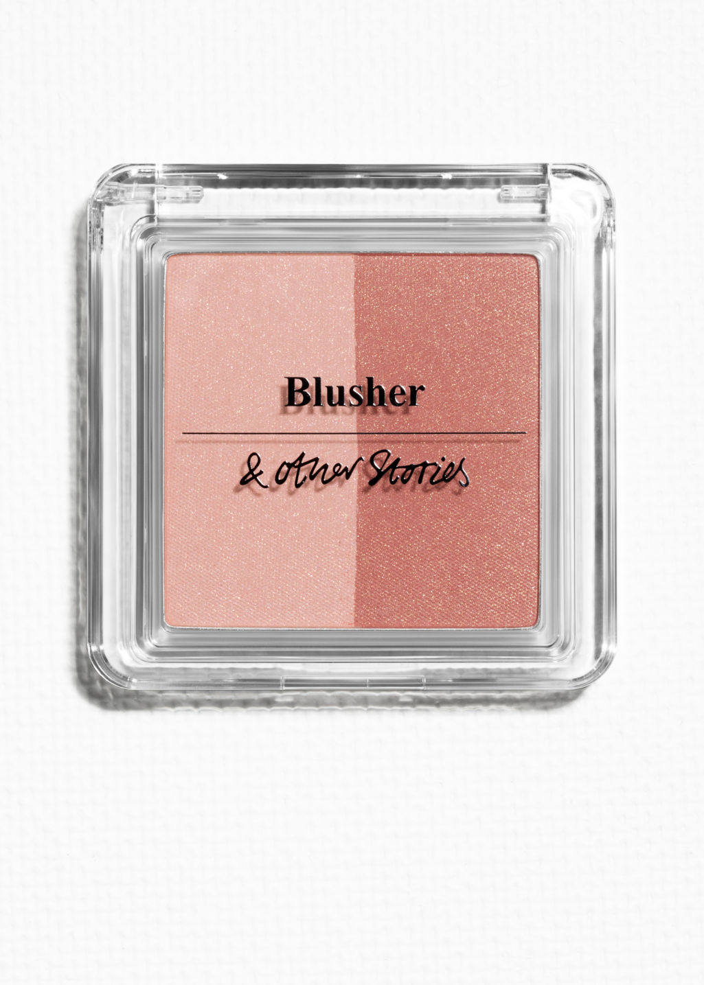 Front image of Stories duo blusher (1) in orange