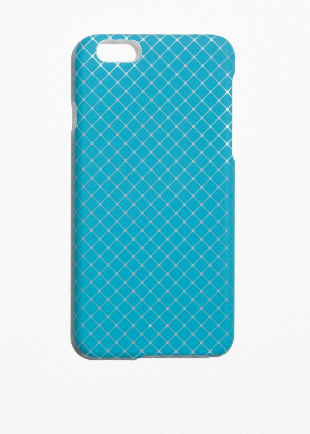 Front image of Stories mosaic iphone 6 case in turquoise