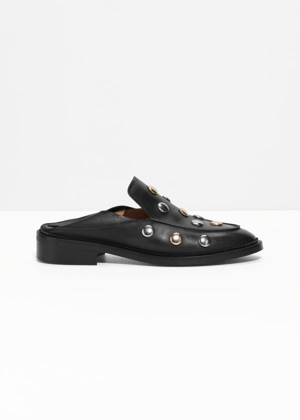 Circle Stud Loafers