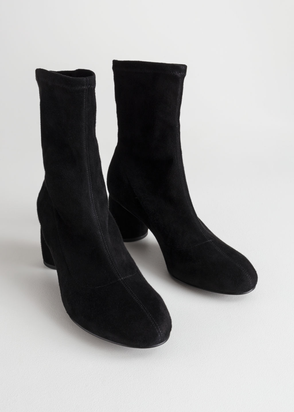 Back image of Stories sock boot in black