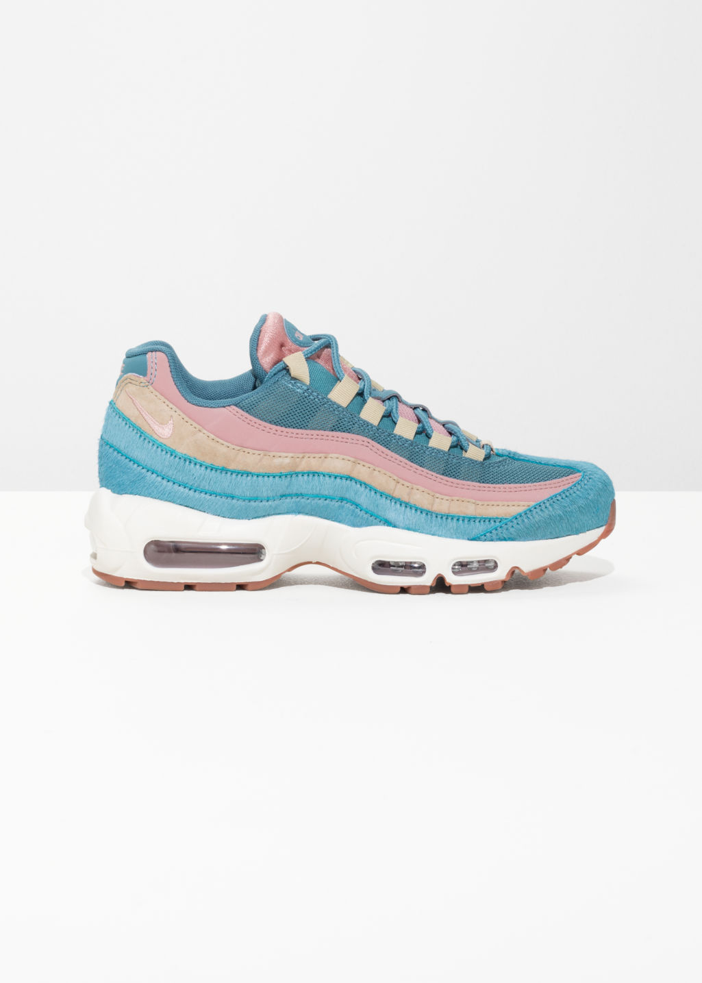 Front image of Stories nike  air max 95 lx in blue
