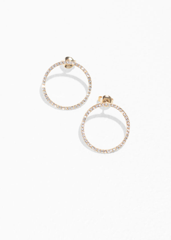 Jewelled Circle Earrings