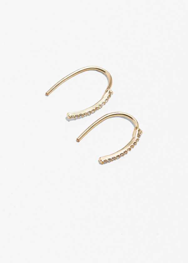 Bejewelled Hook Earrings