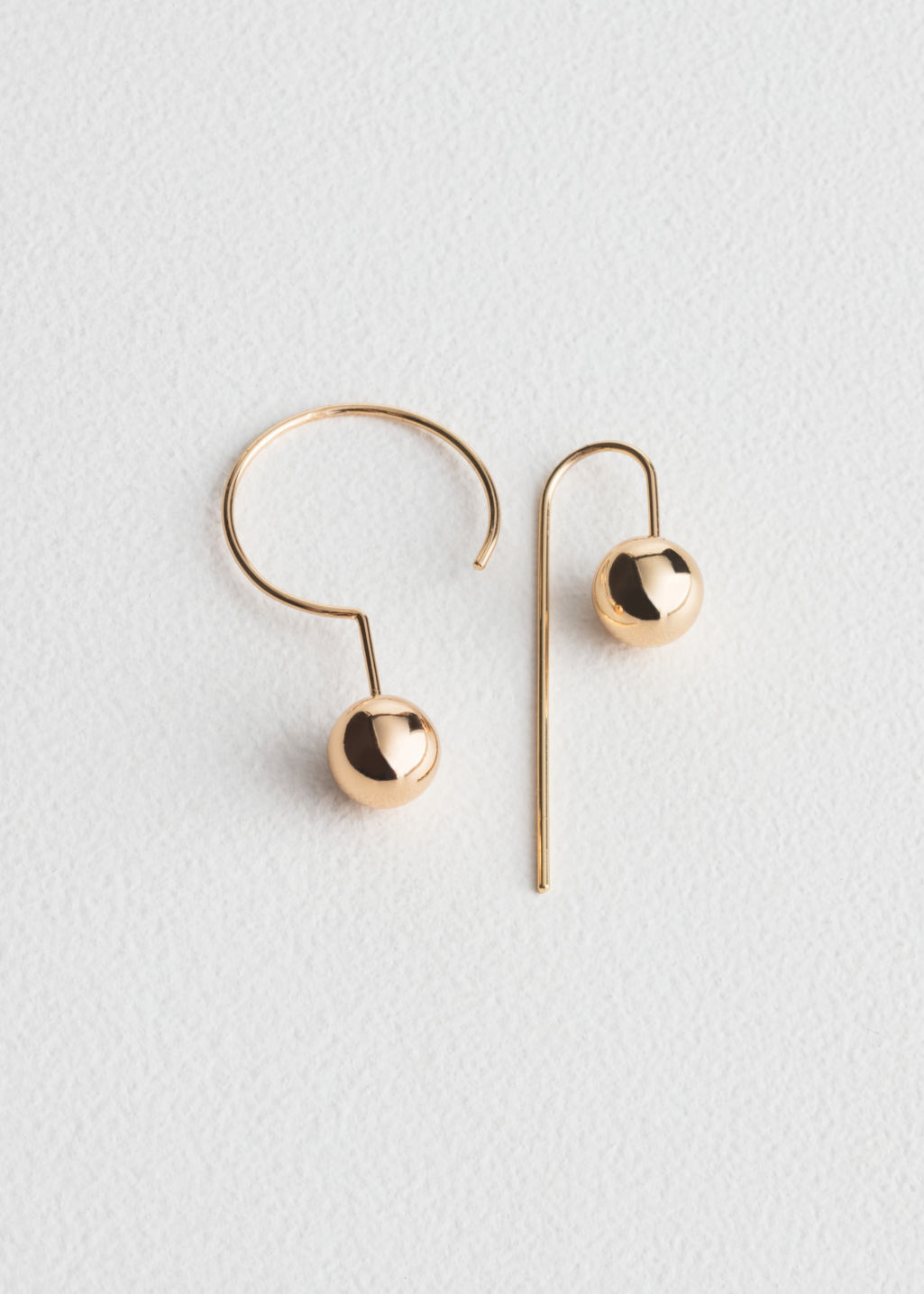 Asymmetric Sphere Earrings