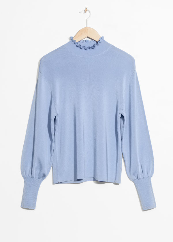 Frill Mock Neck Top