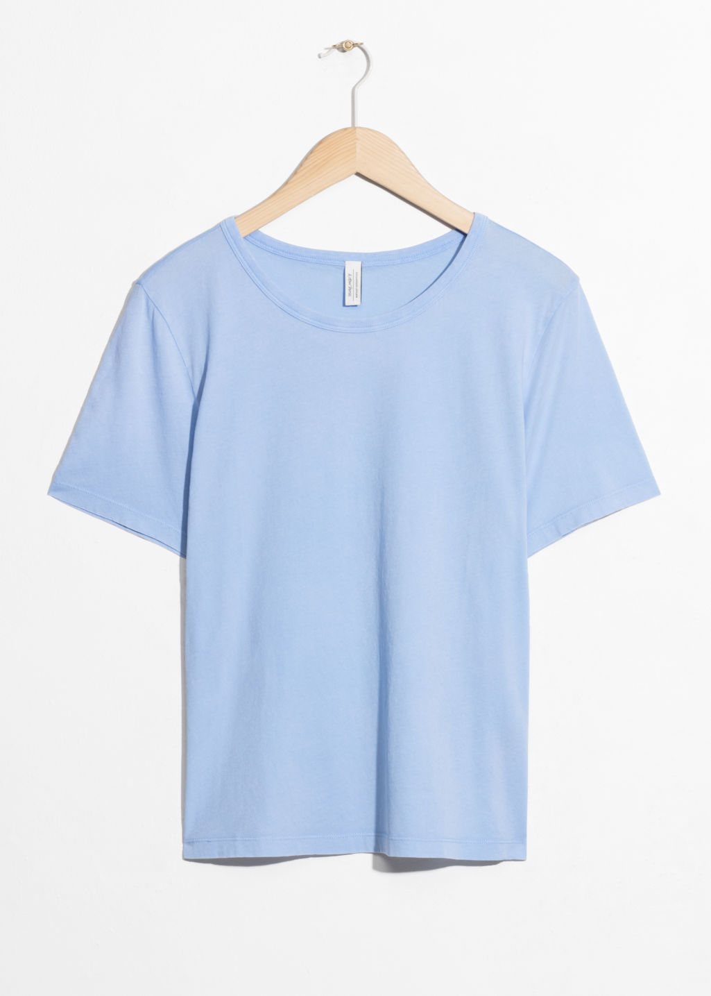 Front image of Stories washed out t-shirt in blue