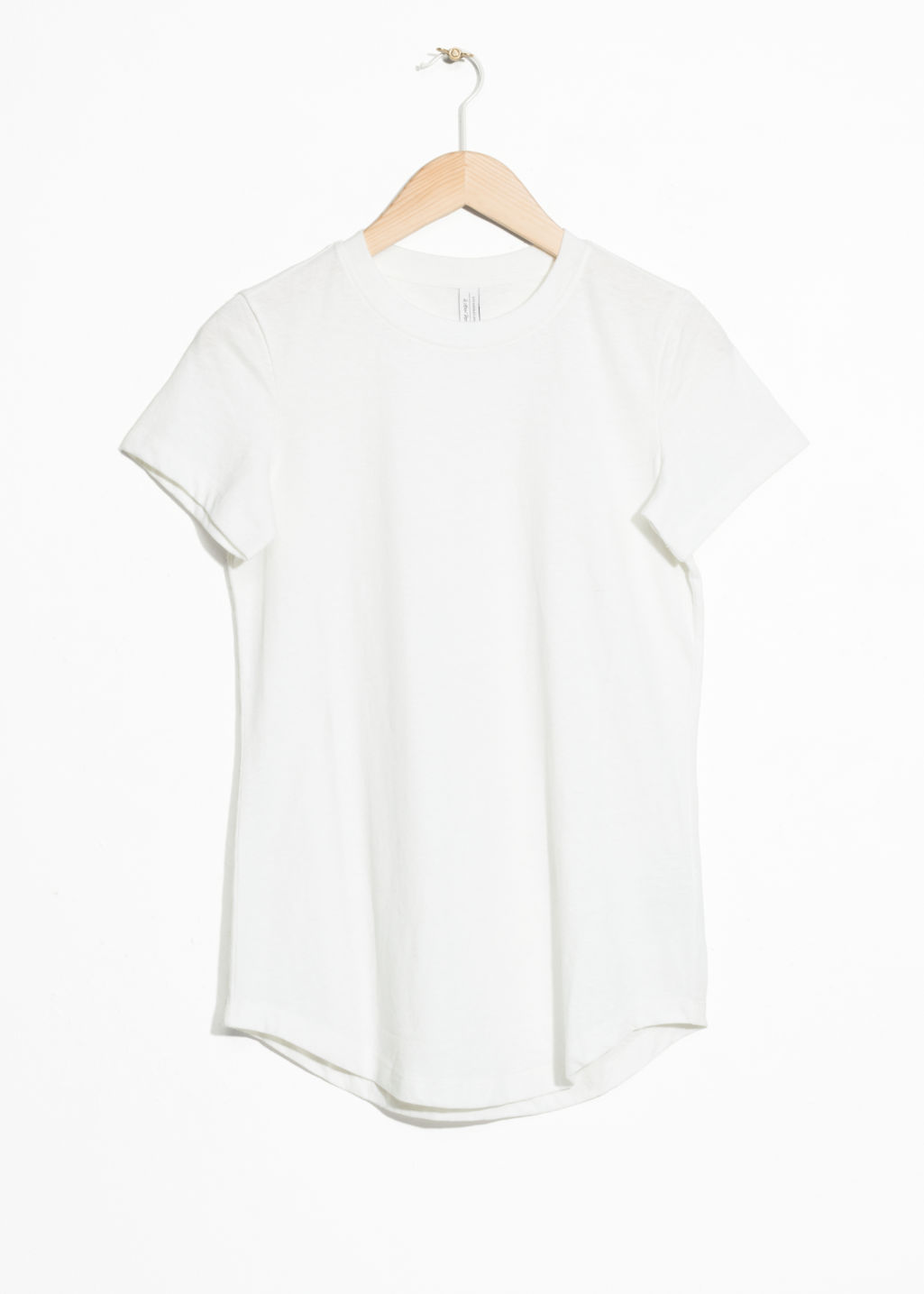 Front image of Stories organic cotton t-shirt in white