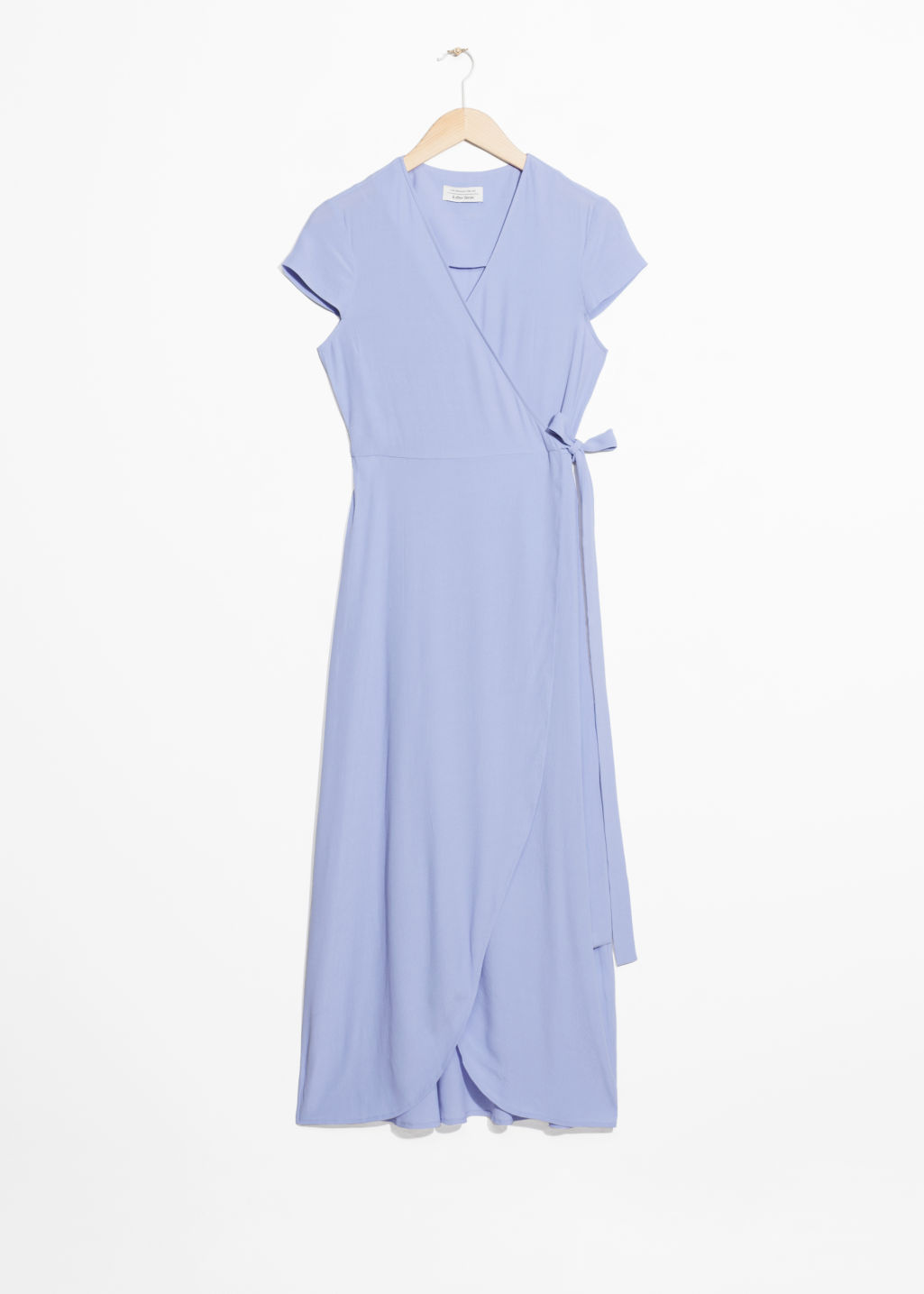 Front image of Stories wrap dress in blue