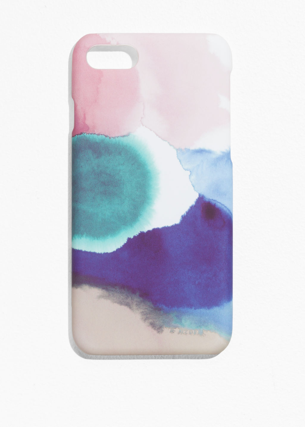 Front image of Stories cloud-print iphone 7 case in pink