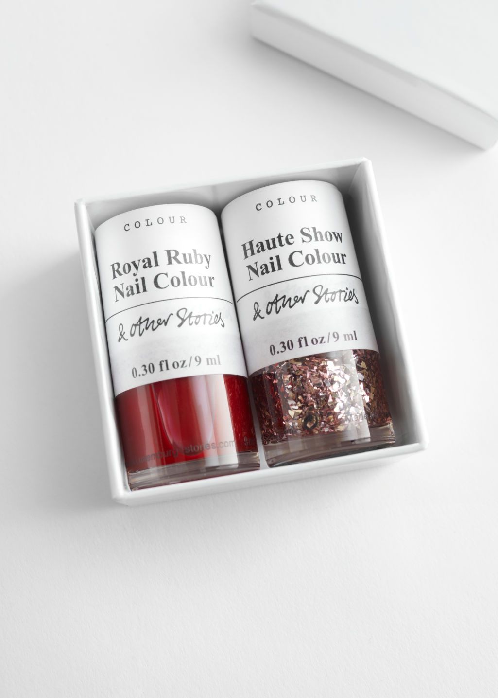 StillLife Front Image of Stories Nail Polish Set in Red