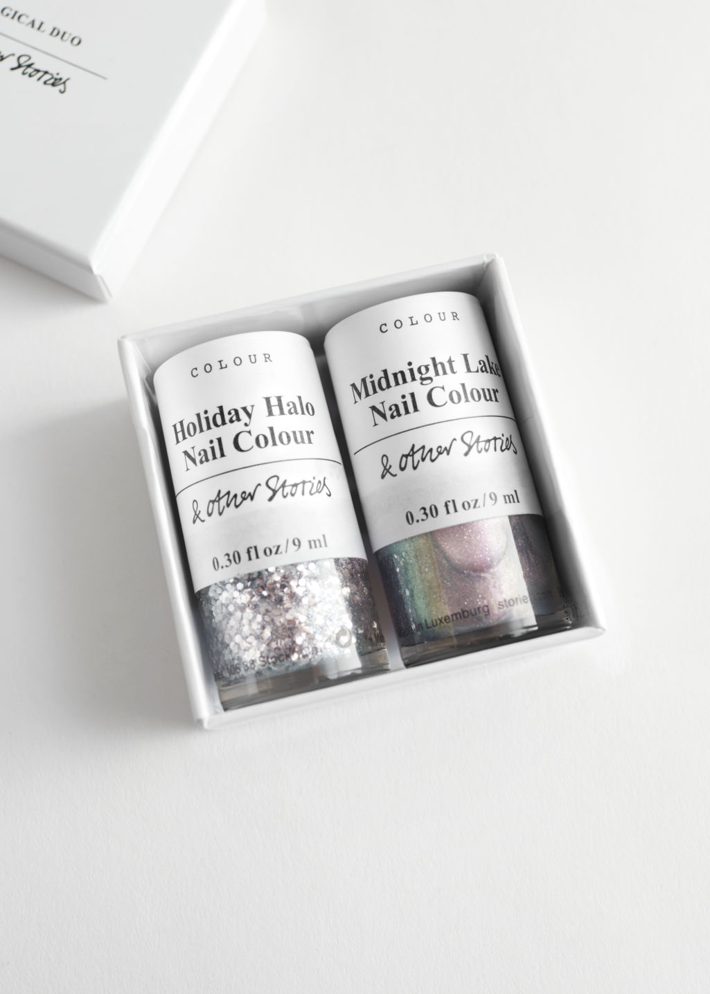 StillLife Front Image of Stories Nail Polish Set in Grey
