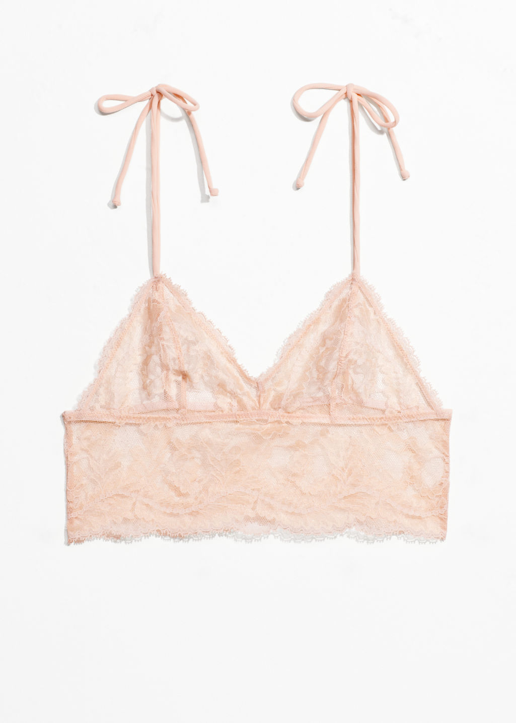 Front image of Stories lace bralette  in orange