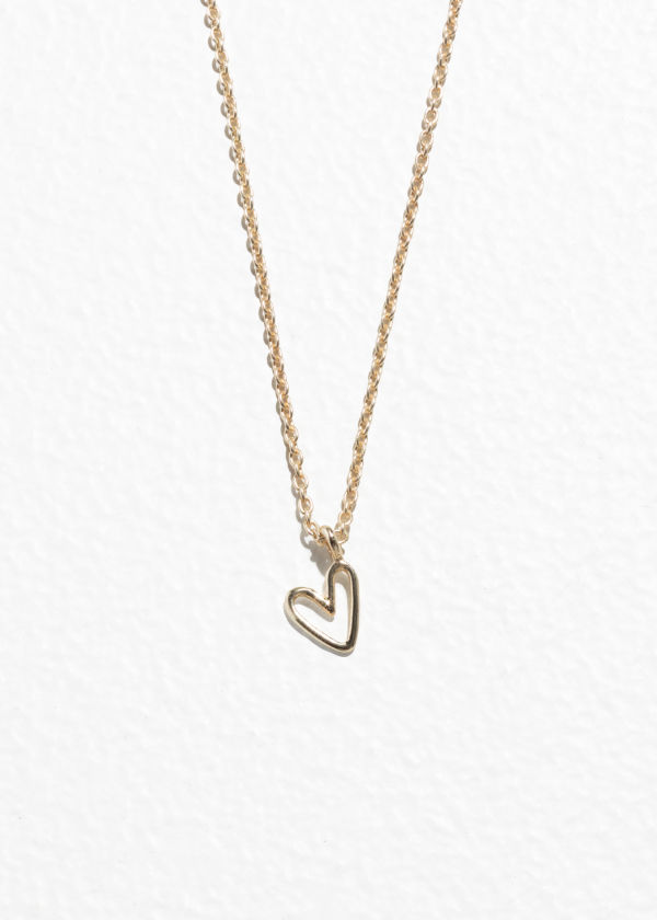 Gold-Plated Sterling Silver Heart Pendant Necklace
