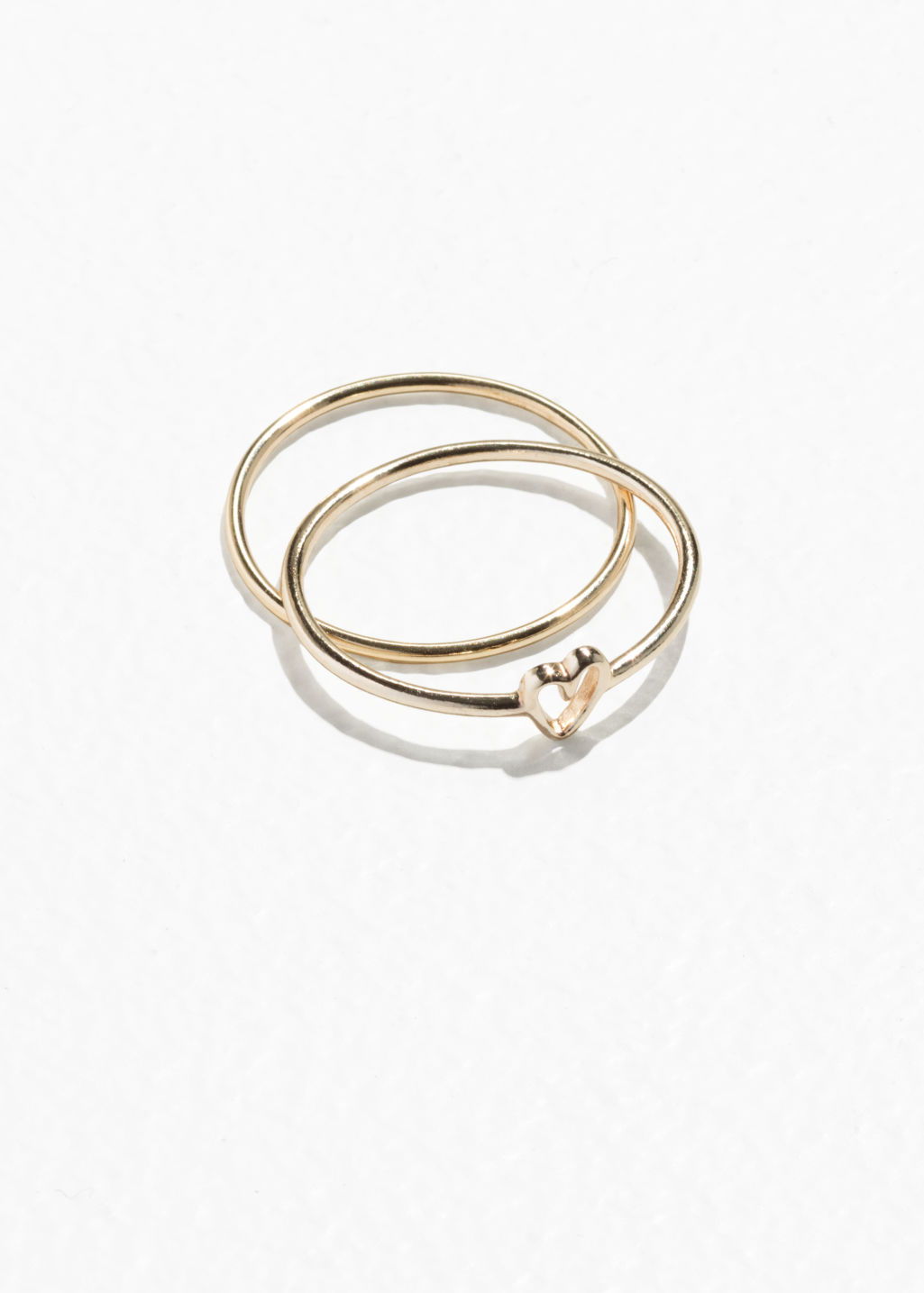 Front image of Stories heart ring in gold