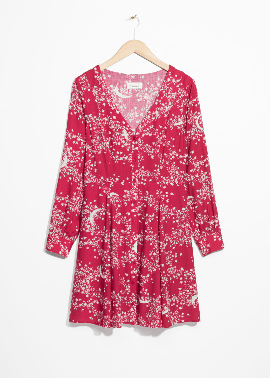 Front image of Stories crescent dress in pink