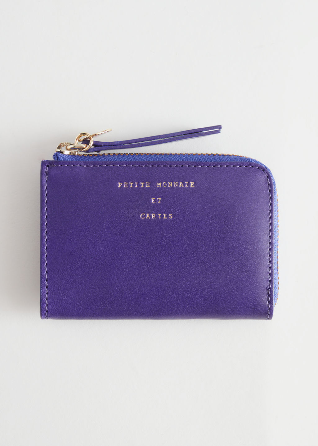 Back image of Stories charm mini wallet in purple