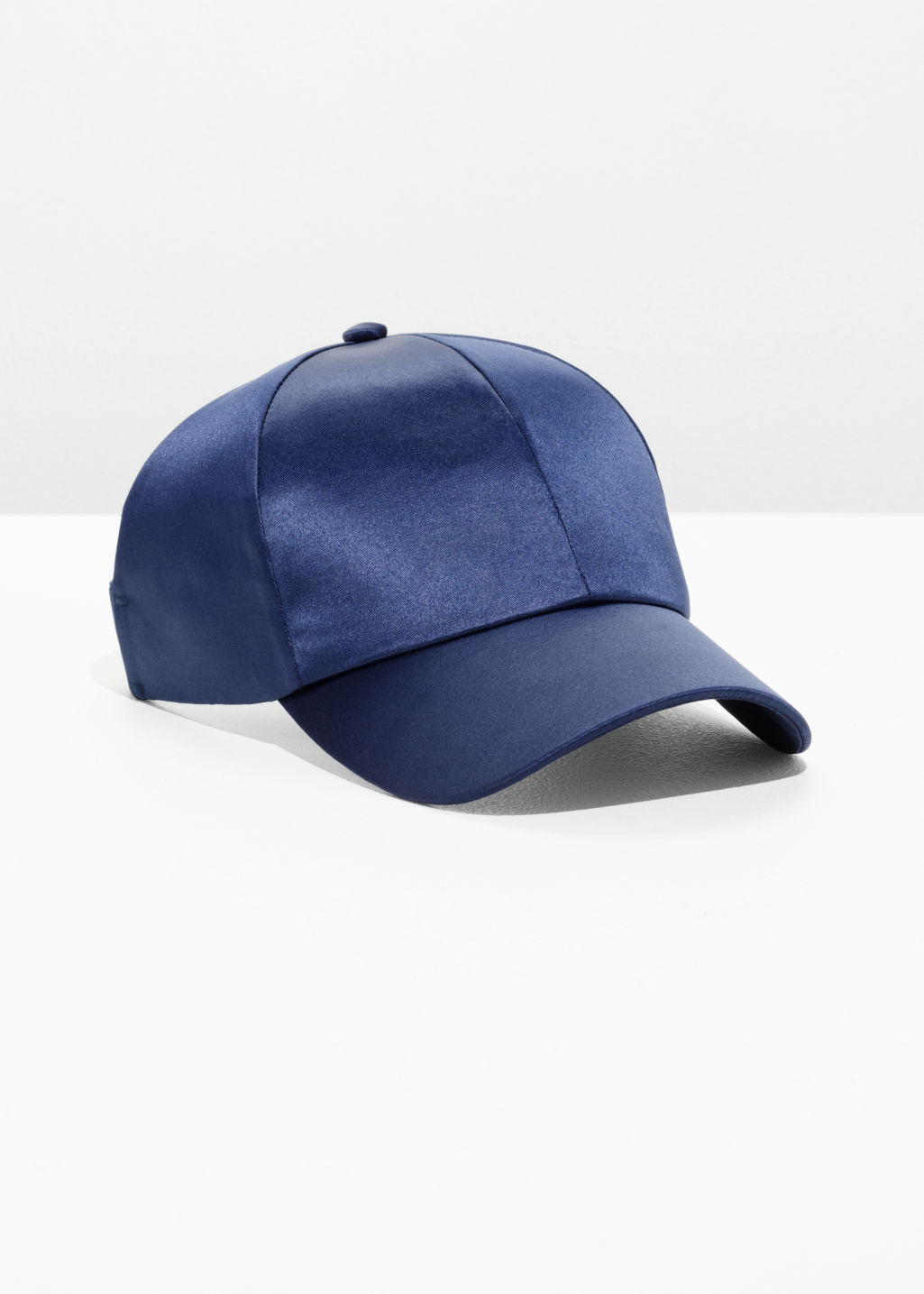 Front image of Stories satin cap  in blue
