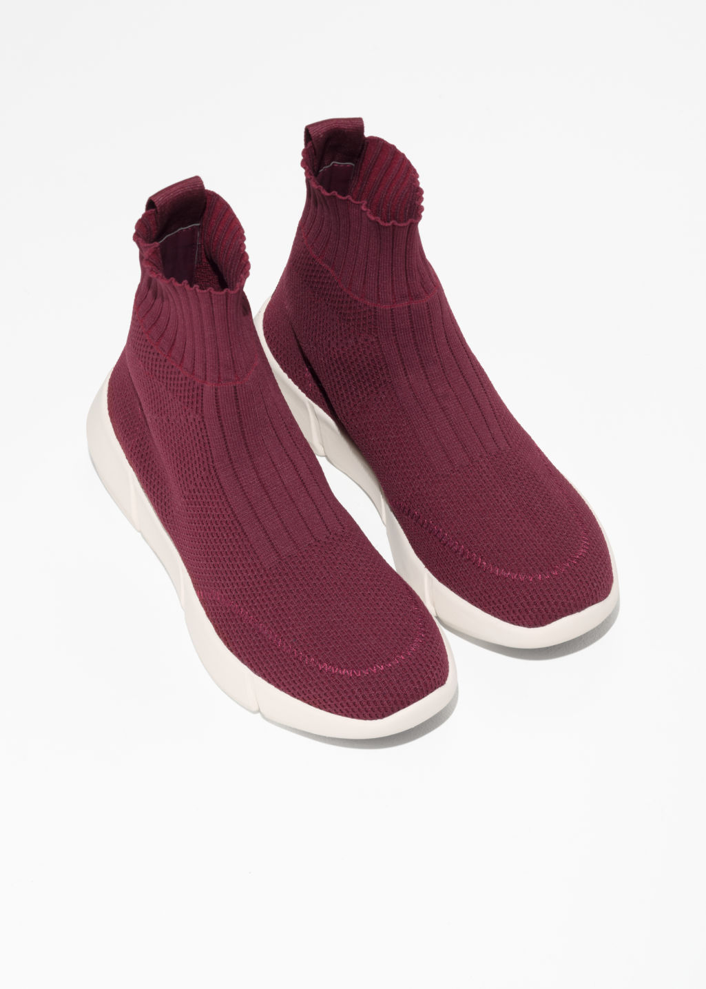 Back image of Stories sock sneaker  in red
