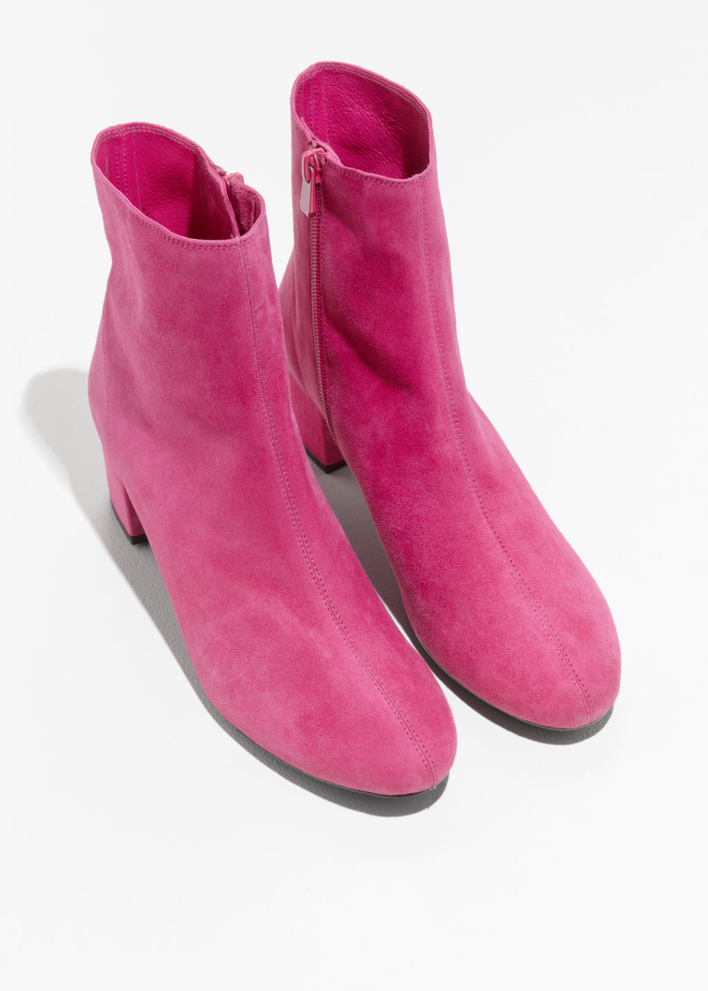 Back image of Stories ankle boots in pink