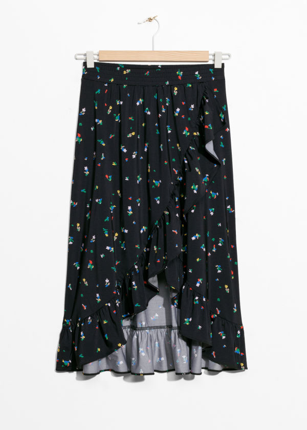 Printed Cascade Skirt