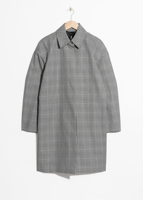 Plaid Cacoon Coat