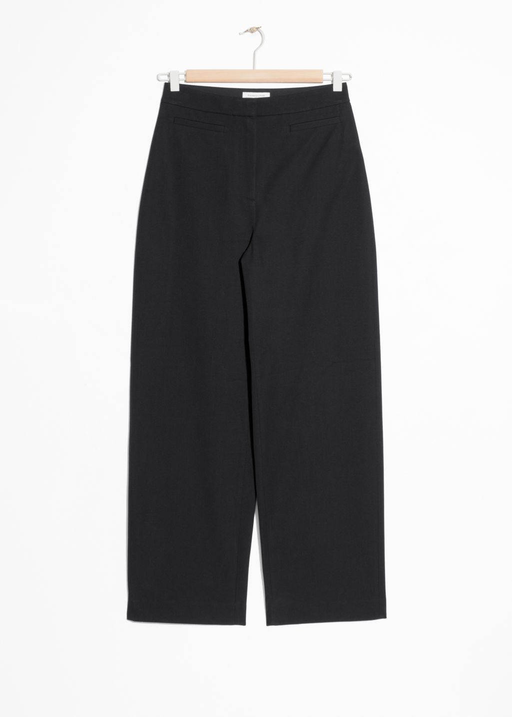 Front image of Stories cotton blend chinos  in black