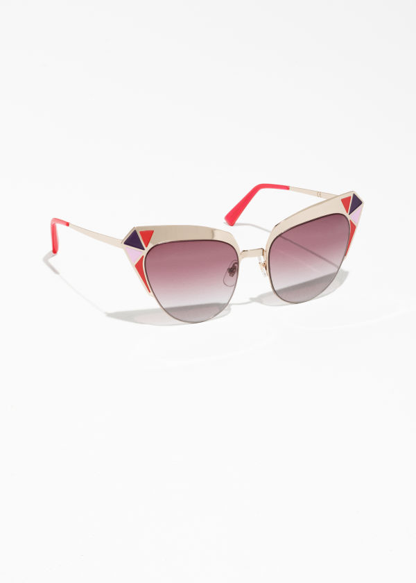 Geometric Cat Eye Sunglasses