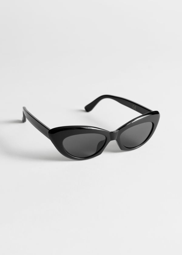 Rounded Cat Eye Sunglasses
