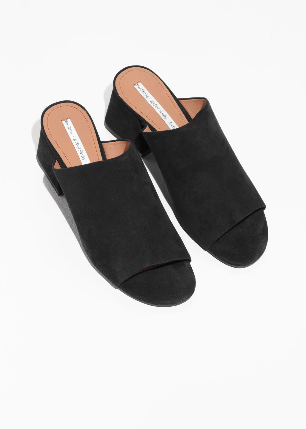 Back image of Stories open toe sandalette in black