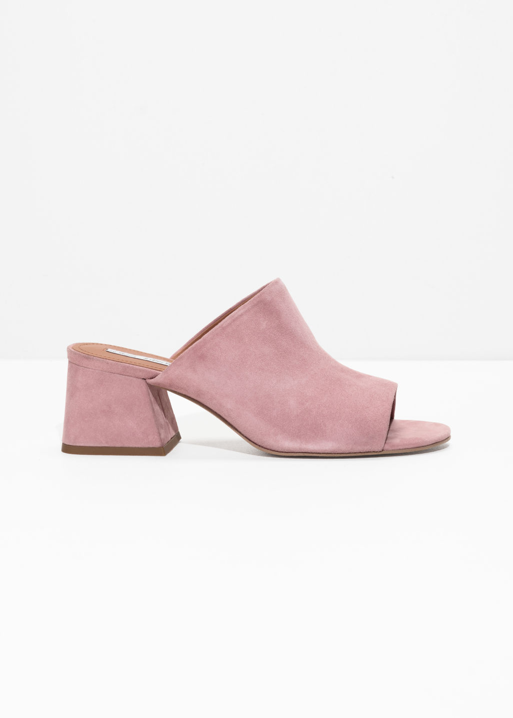 Front image of Stories open toe sandalette in pink