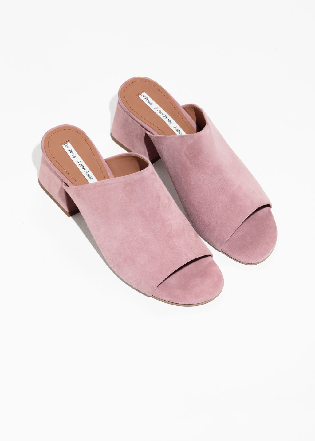 Back image of Stories open toe sandalette in pink