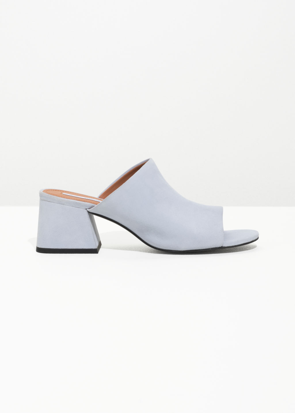 & OTHER STORIES Open Toe Suede Mules
