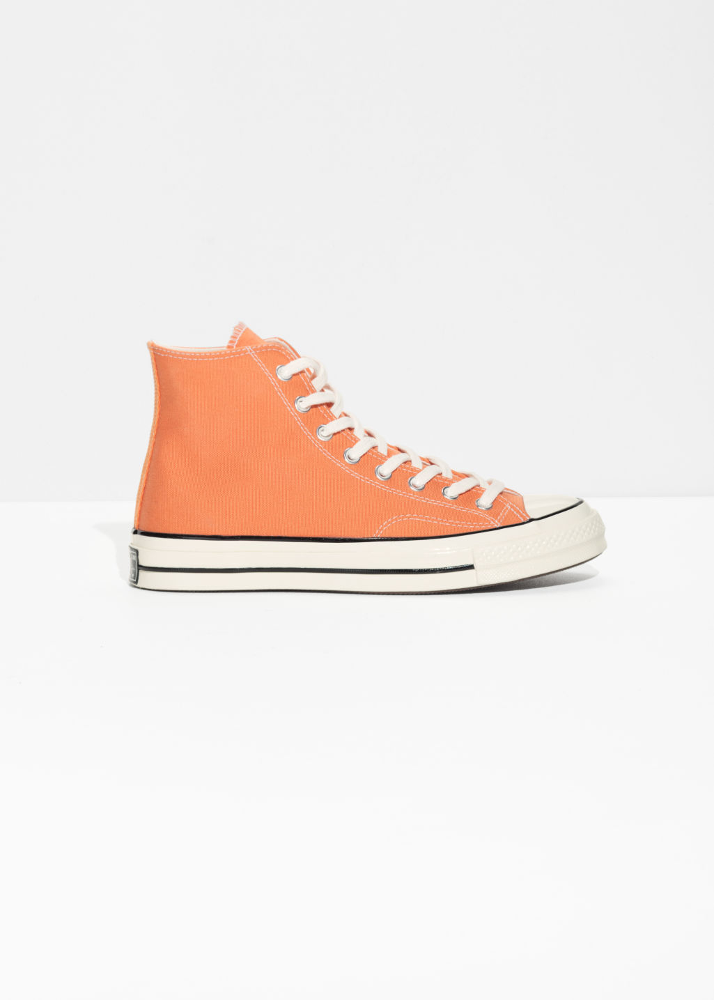 Front image of Stories chuck taylor all star 70hi in orange