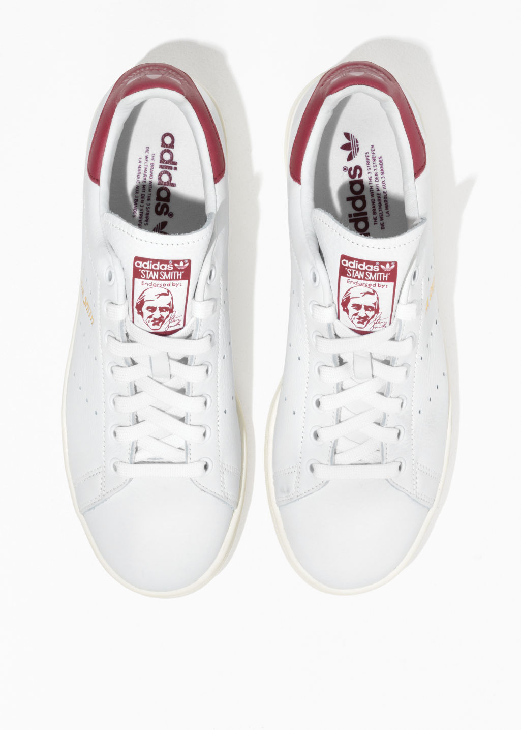 Back image of Stories adidas stan smith sneakers in white