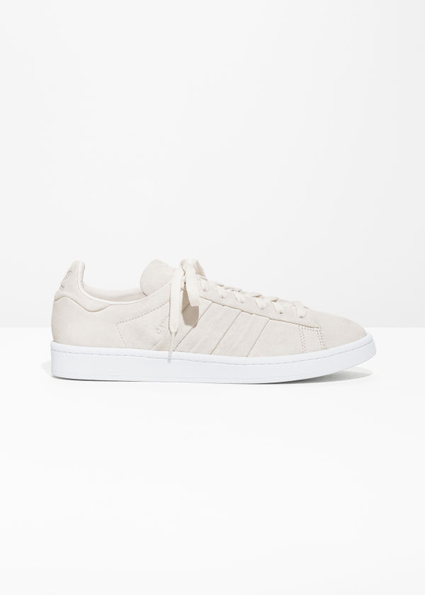 Front image of Stories adidas campus stitch in white