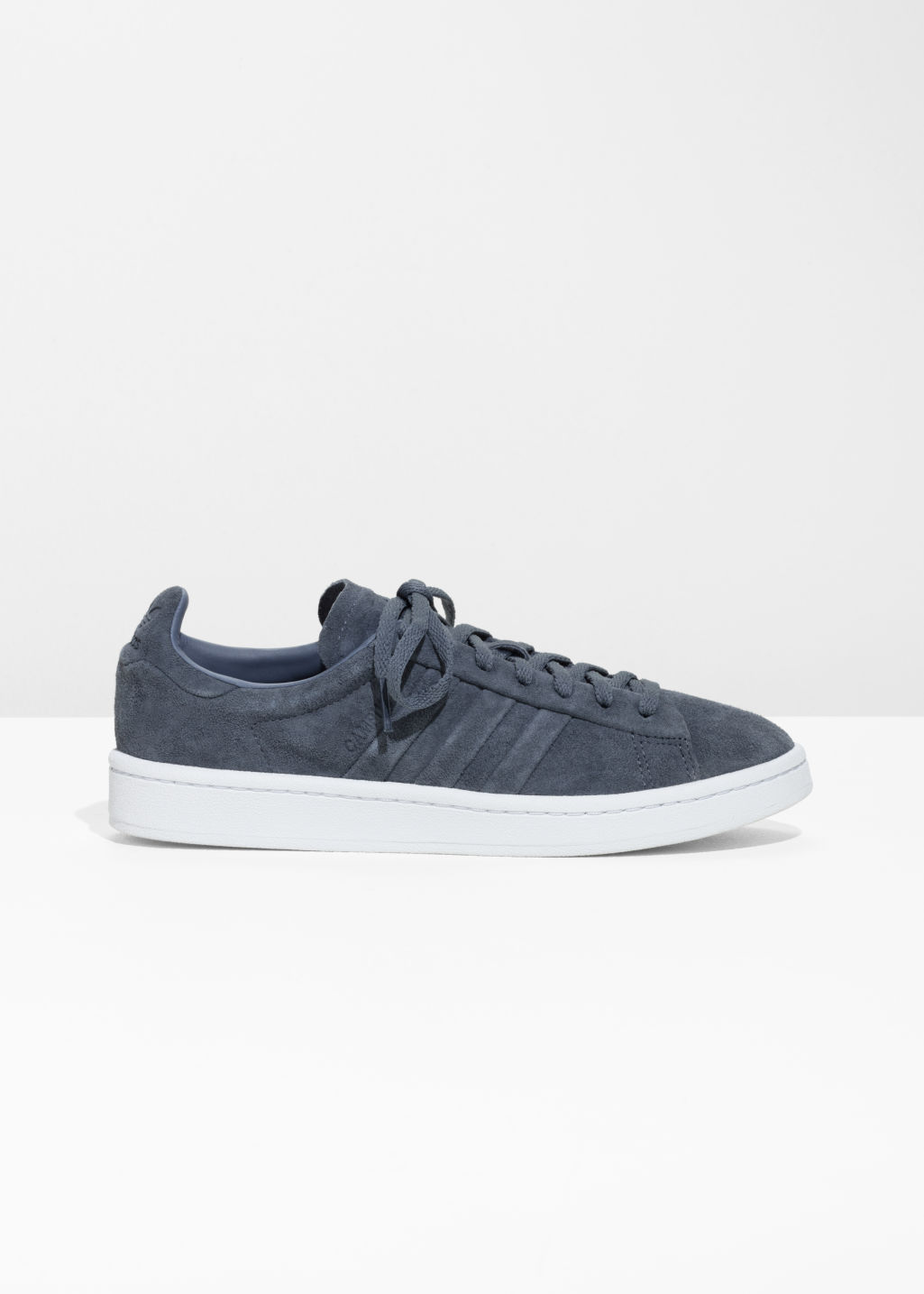 Front image of Stories adidas campus stitch in grey