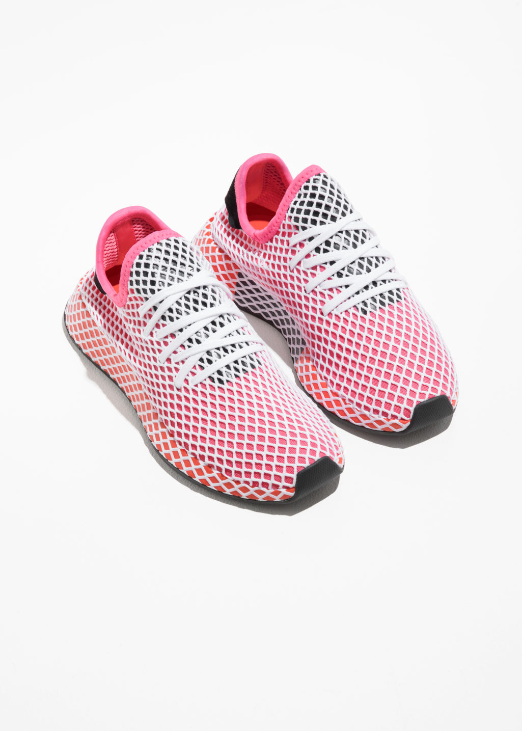 Back image of Stories adidas deerupt runner in pink